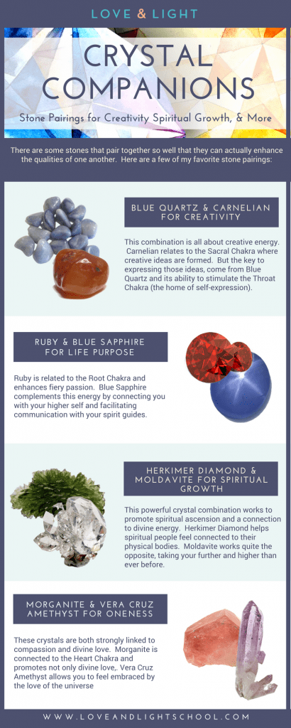 Crystal Companions: Stone Pairings for Creativity, Spiritual Growth, & More - Can I Put These Crystals Together? - My Favorite Crystal Companions - Love & Light School of Crystal Therapy