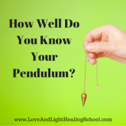 how to make a crystal pendulum